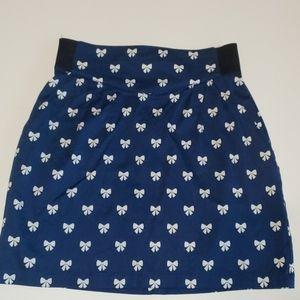 Bow Print Mini Skirt